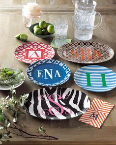 Monogram Plates great gift for a college student moving into a house/apartment