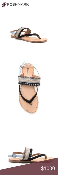 ✨COMING SOON✨ NWT. Mini Pom Pom embroidered sandal ✨COMING SOON✨ NWT. Mini Pom Pom embroidered sandals. Comes in the original box. LIKE THIS LISTING TO BE NOTIFIED WHEN THEY COME IN STOCK. Shoes Sandals