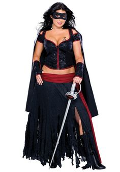 Plus Size Sexy Zorro Costume. Could use the corset for steam.