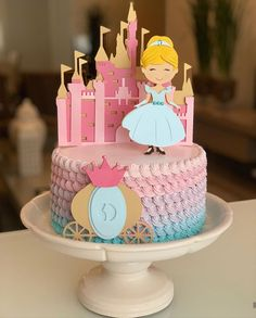 Birthday Cakes Girls Kids, Cool Birthday Cakes, Pirate Ship Cakes, Princess Theme Birthday, Birthday Cake Flavors, Beautiful Birthday Cakes, Cake Decorating Videos, Girl Cakes, Themed Cakes