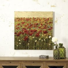 Field of Poppies Giclee Print Wendy Whitson.   Ballard Designs 36 in. square $269.
