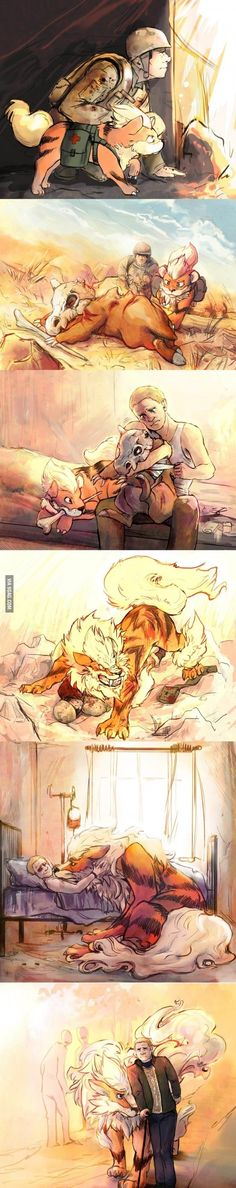 I just can't. Growlithe and Arcanine are probably my favorite pokemon to begin with and then just this. I can't.