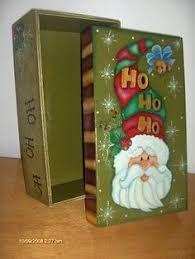 Resultado de imagen para cajas de madera decoradas navideñas