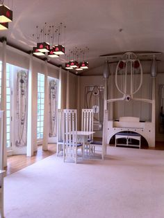The Music Room at the C.R. Mackintosh designed House for an Art Lover, Glasgow.