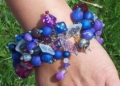 Purple Haze  Dragon Heart  Charm/Junk Bracelet by ErikasChiquis