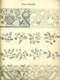 Folk Embroidery, Cross Stitch Embroidery, Embroidery Patterns, Flower Patterns, Art Patterns, Stencils, Bobbin Lace, Painting Techniques, Pattern Art