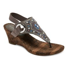 Women's Mountain Sole Annabelle Embellished Wedge Sandals -