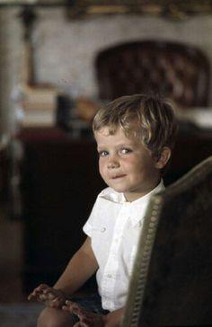 King Felipe VI (Felipe Juan Pablo Alfonso de Todos los Santos de Borbón y Grecia) (30 Jan 1968-living2015) Spain as child by unknown photographer. Future husband of Letizia Ortiz Rocasolano (15 Sep 1972-living2015) Spain.