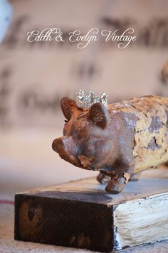 Antique Cast Iron Pig Rusty Chippy Peely by edithandevelyn on Etsy