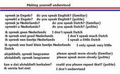 Dutch: making yourself understood