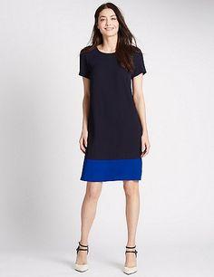 Short Sleeve Shift Dress   Marks & Spencer London