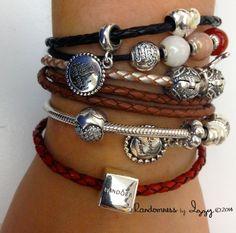 Pandora Double Leather Bracelet Ideas