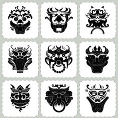 Korean Traditional Pattern Stickers Decorative Film Korean Goblin Traditional