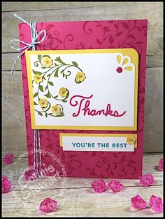 FLASH CARD Video - Thanks You're the Best Card - see the video at www.SimplySimpleStamping.com. Just look for the March 13, 2016 blog post!