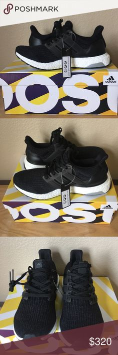 Ultra boost ADIDAS black new w/ tag & box size 6 Ultra boost ADIDAS black new w/ tag & box size 6 Adidas Shoes Sneakers