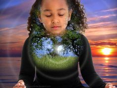 GUIDED IMAGERY: Encouraging Mindfulness in Children - child meditating