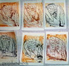 Zwischendurch: Advent Mail Art: im Jahr der Katze (making of) Tetra Pack, Advent, Printing, Art, Art Education Lessons, Random Stuff, Art Ideas, Cats, Craft Art
