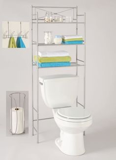 How To Organize Your Entire Bathroom for Under $100 |  Even in the tiniest of bathrooms, you don't need to spend a lot of money to make things work. Between damage-free hooks and shelves to portable items (like a rolling cart), you get can your bathroom in shape in no time.