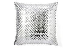Basket Weave Pillow, Silver on OneKingsLane.com