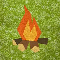 Campfire Paper Pieced Quilt Block Pattern PDF