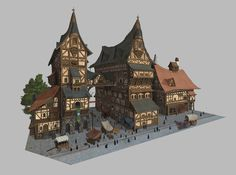 Middle age village, kim soung min on ArtStation at…