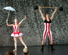 Ballet: Circus Pas de Deux. Created for Ballet Under the Stars. Costumes: Graham McMonagle & The Wardrobe Shop.