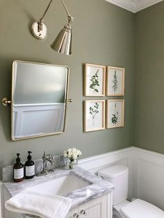 Laundry/Powder Room Our Powder Room: Before & After Top 5 Ways to Choose Your Contemporary Furniture Powder Room Storage, Powder Room Paint, Blue Powder Rooms, Powder Room Wallpaper, Modern Powder Rooms, Powder Room Decor, Powder Room Design, Green Powder, Powder Room Mirrors