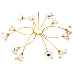 Italian Rare Chandelier Mid-Century | From a unique collection of antique and modern chandeliers and pendants  at https://www.1stdibs.com/furniture/lighting/chandeliers-pendant-lights/