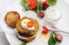 Spicy cauliflower and chickpea fritters