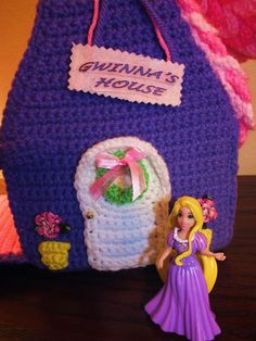 Gwinna's Purple Doll House©  is portable so your little one can take it where ever you go! Just in time for those unique hand crafted Christmas Gifts!!