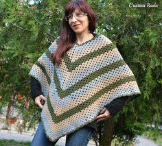 Wool Poncho crochet Poncho Cape Women's Capelet by raducristina