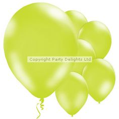 Lime Green Balloons - 11'' Lat