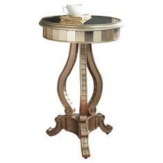 Found it at Wayfair - Fantasy Mirrored End Table in Gold