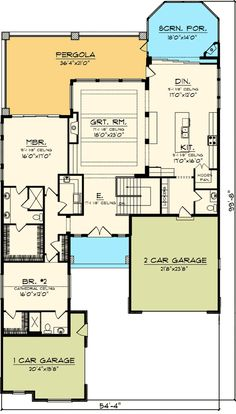 388 Best House Plans With Side And Back View Images Country Homes