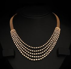 Gold and Diamond jewellery designs: Indian Diamond Bridal Necklace ...