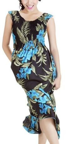 HAWAIIAN PLUMERIA FLORAL BLACK & TURQUOISE TANK « Dress Adds Everyday