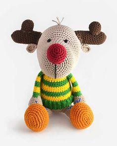 Buy Rudy the reindeer amigurumi pattern - AmigurumiPatterns.net
