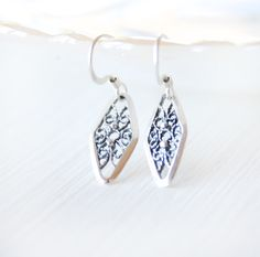 Diamond Filigree Teardrop Earrings
