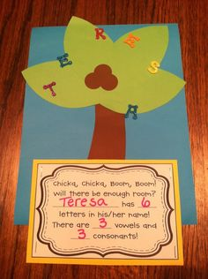 """Love this """"Chicka, Chicka, Boom, Boom"""" activity for 1st grade!"""