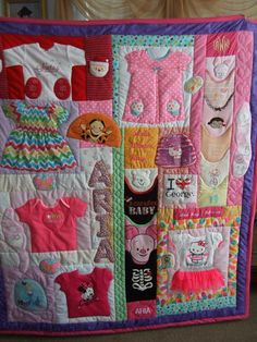 So this online take all your children's clothing from the first year of there life that have the most meaning to you and make a show piece or for them as a keepsake!!