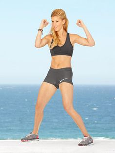 Heather Morris' Dance and Martial Arts Workout. Do this with a group of friends...these moves are all kind of goofy and you could have a lot of fun! Plus laughing would add an extra ab workout :-)