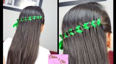 Trenza de Cascada con Cinta - Scissor Waterfall Braid   Peinados con Tre...