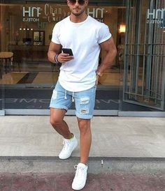 44 mens fashion summer styles 16 - Although most of us as men in Bez . - 44 mens fashion summer styles 16 – Although most of us as men seem to be careless about clothing, - Vintage Summer Outfits, Stylish Mens Outfits, Cool Summer Outfits, Dressy Casual Outfits, Summer Shorts, Mode Masculine, Mode Swag, Best Dress Shoes, Best Dress For Men