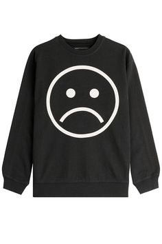 Shop The Smiley Face Fashion Trend - Marc by Marc Jacobs Cotton Sweatshirt, $168; at Stylebop