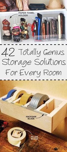42 Storage Ideas That Will Organize Your Entire House--- one of the best collection of home organization ideas I have seen in a while