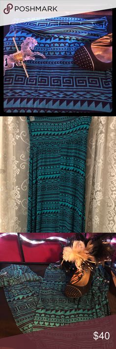"""Claire Maxi Skirt Adorable Claire Maxi Skirt in Jade/Navy. 96% Rayon 4% Spandex. 44"""" long. Super soft and comfy. Wear as casual or dress it up for a more business approach. Hand wash in cold water ONLY! Made in the USA Cantata Skirts Maxi"""