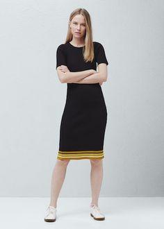 Ściągaczowa sukienka midi -  Kobieta | OUTLET Polska