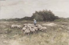 Landscape with Shepherd and Sheep,   Anton Mauve (1838-1888) | Lectionary Notes: PENTECOST VIII 2015