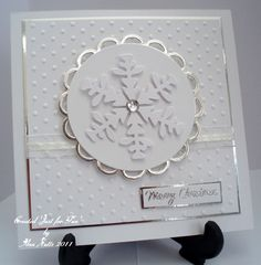 Embossing, snowflakes, silver, who could ask for anything more in a Christmas card?