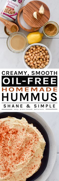 Creamy Smooth Oil-Free Homemade Hummus